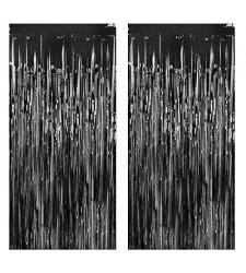 וילון פרנזים בצבע שחור