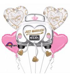 בלון עם הכיתוב -just married